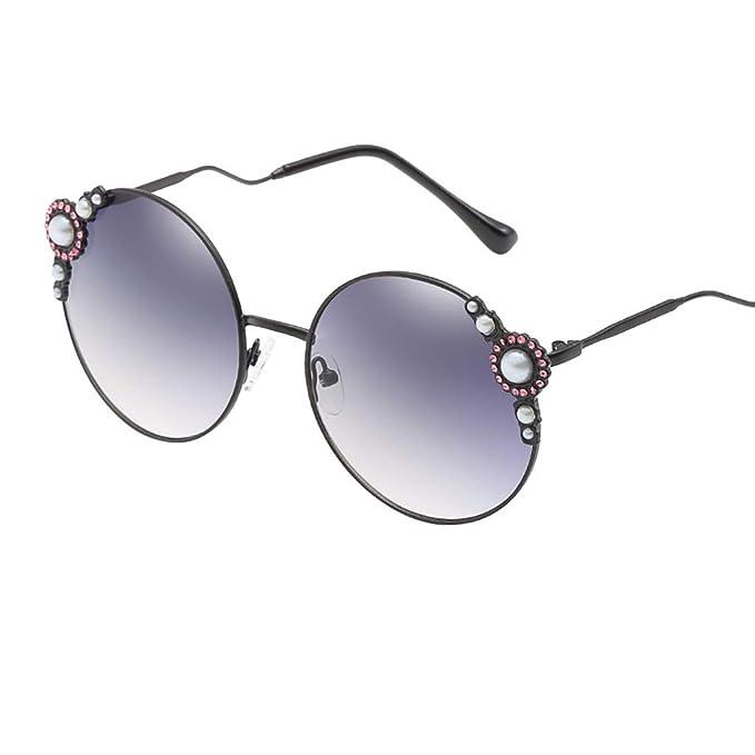 Mymyguoe Gafas de Sol de Perla Dama Gafas de Sol Mujeres ...