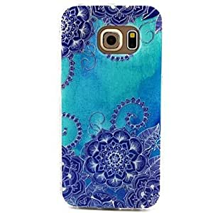 ZXC Blue Morning Glory Pattern TPU Soft Case for Samsung Galaxy S6 edge