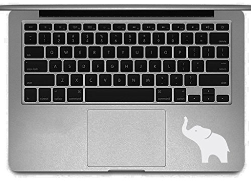 White Elephant Laptop Decal - Macbook Sticker Removable Vinyl Skin for Computer Apple Pro Air Mac 17' Laptop Pc