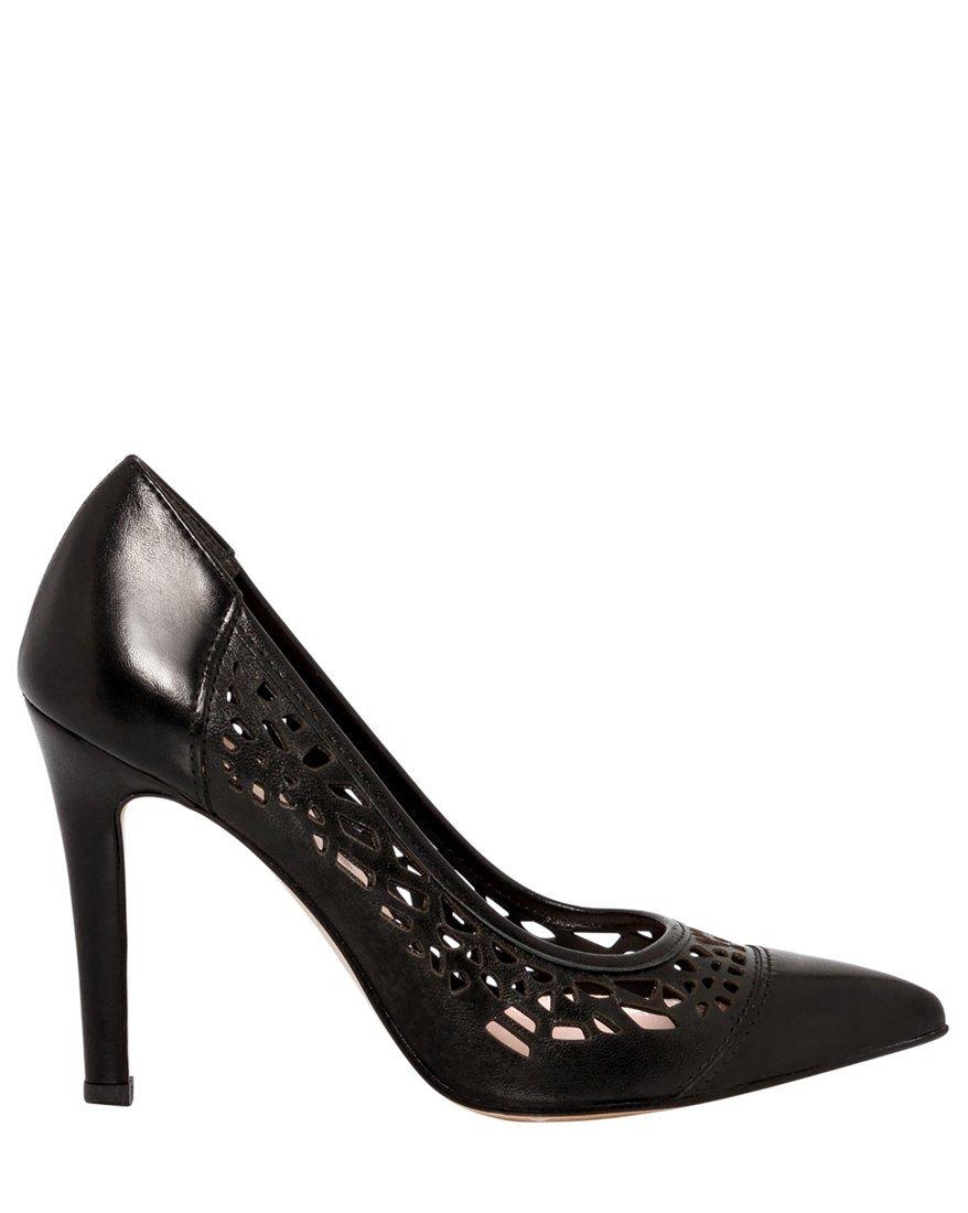 LE CHÂTEAU Women's Italian-Made Leather High Heel Pump,38,Black by LE CHÂTEAU