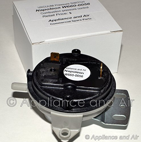 (NEW W660-0056 Vacuum Switch Timberwolf Pellet Stove TPS35, TPI35 + Instructions)