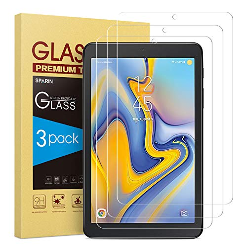 [3 Pack] Galaxy Tab A 8.0 (2018) Screen Protector [Tempered Glass] [Anti-Scratch] Compatible with Samsung Galaxy Tab A 8.0 (SM-T387) 2018 Released (Pantalla Galaxy Tab 3)