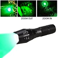 VASTFIRE 350 Yard Hunting Light Zoomable CREE Green...