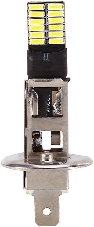 VGEBY 1Pc 6500K OCULTADO Xen/ón Blanco 24-SMD H1 Bombillas de repuesto para luces de niebla Conducci/ón DRL