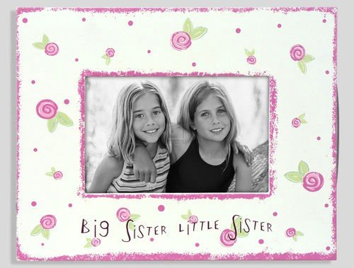 BIG SISTER / LITTLE SISTER painted keepsake by Malden - 4x6