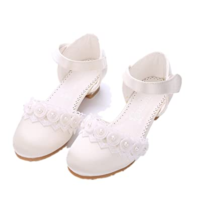 Amazon.com | PRETTYHOMEL Girls Princess Leather Shoes Children Wedding Shoes  For Kids Party Shoes Girls Dancing Shoes With High Heel | Shoes