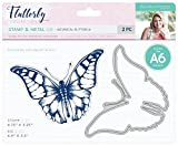 Sara's Signature S-F-MDS-BB Flutterby Stamp and Die, Silver