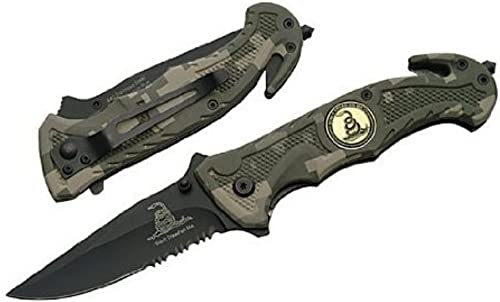Digital Camo Don t Tread On Me Tactical Rescue Pocket Knife