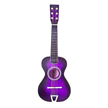MRKE Ukelele Principiantes Guitarra Niño 23 Pulgada 6 Cuerdas Juguete de Instrumentos Musicales para Infantil Niño y Niña 3-8 Años (Púrpura): Amazon.es: ...