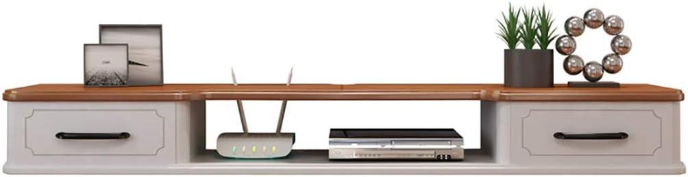Estante flotante Sólido de televisión de madera pared de la cabina sencilla carcasa del televisor sencilla