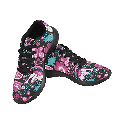 6 Lightweight Print InterestPrint Casual US 15 Sneakers Size Athletic On Pattern Shoes Women's Colored Flowers Running Purple vwIvrZ