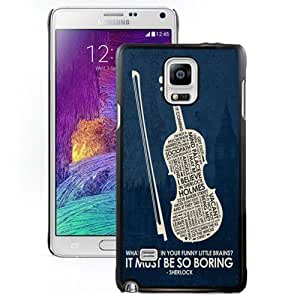 Hu Xiao Customized Note4 case cover Design with Design in Sherlock cell phone LqlxL4NggZK Cover HTC One M7 N910S N910C in Black