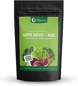 Nutra Organics Super Greens + Reds Powder 1 kg, 1 kilograms