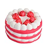 Slow Rising Squishies Cake Jumbo, Posional 2018 Stress Reliever Strawberry Cake Scented Super Slow Rising Kids Toy Cute (Red)