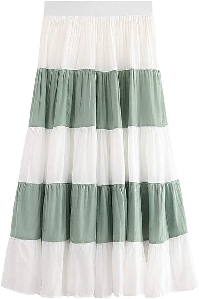 Holywin - Falda de Verano para Mujer, Estilo Informal, con Banda ...