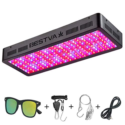BESTVA DC Series 2000W LED Grow Light Full Spectrum Grow Lamp for Greenhouse Hydroponic Indoor Plants Veg and Flower