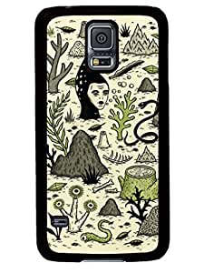 Diy Design Verdant Graveyard Cute Samsung Galaxy S5 I9600 TPU Black Case Cover