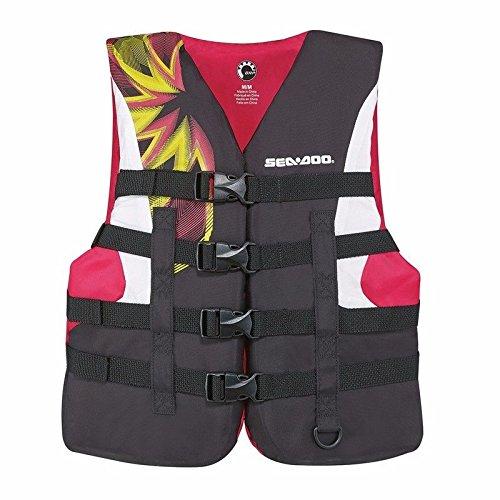新しいBRP sea-doo女性用ナイロンモーションPFDライフベストjacket-adult medium-ピンク
