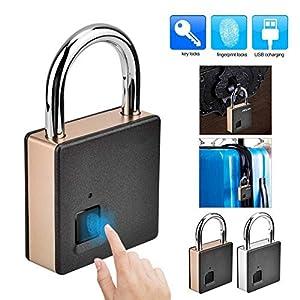 51NWDbzqnFL. SS300 DYWLQ Impronta digitale lucchetto-Smart Bluetooth/impronta digitale sblocco serratura impermeabile ideale per palestra…