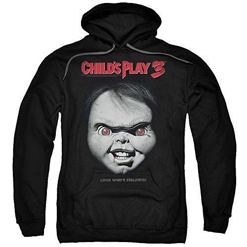 2Bhip Child's Play 3 Horror Thriller Movie Chuckie Face Poster Adult Pull-Over Hoodie for $<!--$44.95-->