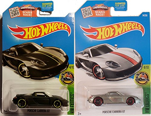 2016 Hot Wheels Porsche Carrera 2-Car GT Set Flat Black & Zamac - Ferrari Black Flat