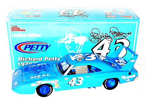 2x-autographed-1970-richard-petty-dale-inman-43-stp-plymouth-super-bird-petty-enterprises-racing-cha
