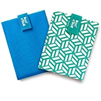 Roll'eat - Pack 2 Unidades, Boc'n'Roll Active Azul y Boc'n'Roll Tiles Verde | Dos Bolsas de Merienda Porta Bocadillos…