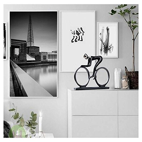 DU&HL Abstract Decoration Decoration Creative Simple Rider Decoration Modern Home Office Living Room TV Cabinet Crafts, Cyclist Rider by DU&HL (Image #1)