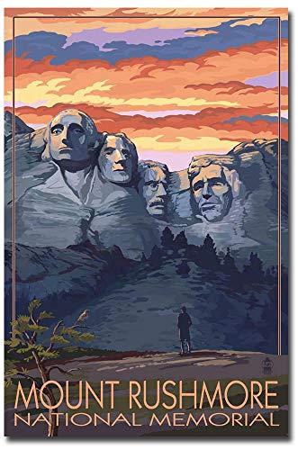 Mount Rushmore National Memorial Vintage Travel Art Refrigerator Magnet Size 2.5