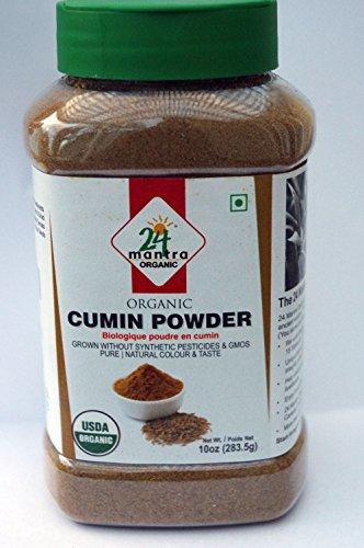 - Organic Cumin Powder - Cumin Seed Powder USDA Certified Organic EU Certified Organic Pesticides Free Adulteration Free - 10 Ounces - 24 Mantra Organic