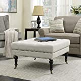 Tufted Ottoman Coffee Table with Storage Belleze Ottoman 33