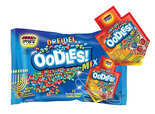 Chanukah Soft Candy OODLES - Family Pack of 12 Packets -