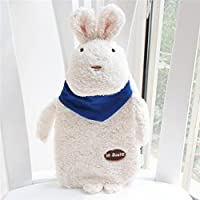 New Creative Cute Cartoon Rabbit Hot Water Bottle Bag Safe and Reliable Plush Rubber Washable Household Warm Items3