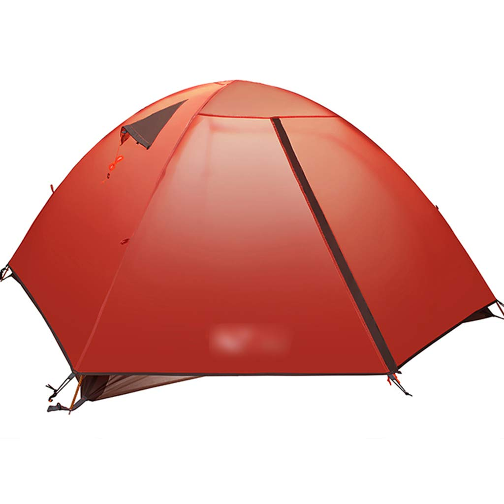 YaNanHome Im Freien Zelt des Zelts des Zeltes des Zeltes Starkes regendichtes Breathable Zelt 2-3 Leute verbinden Zelt Vier Jahreszeitzelt (Farbe : ROT, Größe : 210  180  115cm)