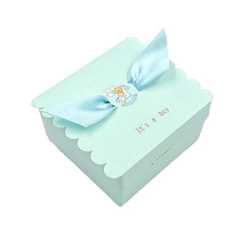 JZK® 50 x Recuerdos cajas regalo bombones de boda baby shower cumpleaños graduación Navidad comunión