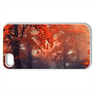 Forests - Case Cover for iPhone 4 and 4s (Forests Series, Watercolor style, White)