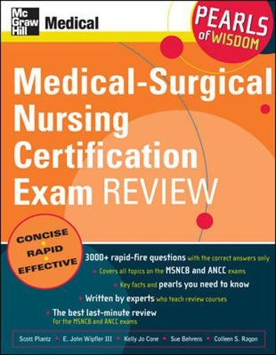 Medical-Surgical Nursing Certification Exam Review: Pearls of Wisdom by McGraw-Hill Education / Medical