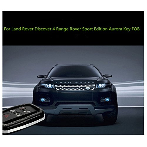 Pinalloy Pure Carbon Fiber Remote Key Cover Case Skin Shell for Land Range Rover