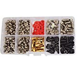 DANA FRED 227pcs Personal Computer Screws PC Standoff M3 M5 M6 Phillips Head Assortment Kit for Hard Drive Computer Case Motherboard fan power graphics