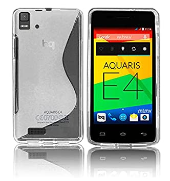 Carcasa Funda TPU S line para BQ Aquaris E4 E4.0 Color Semi - Transparente
