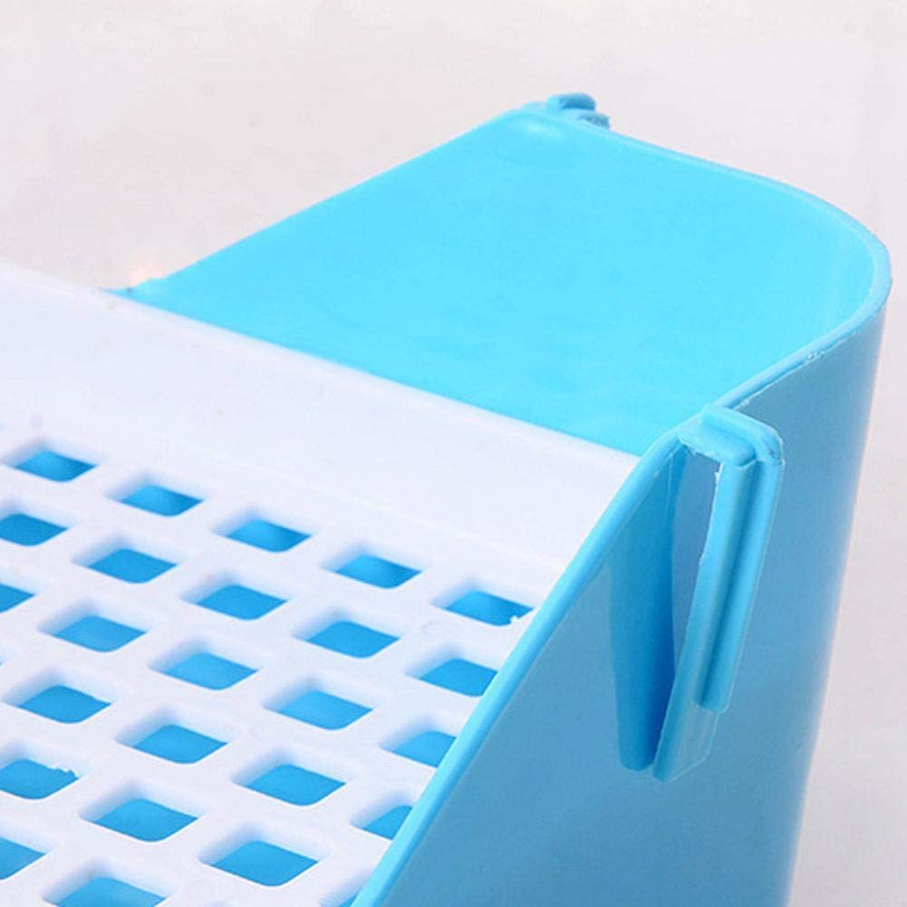 Sunronal Pet Toilet Triangle Shape Stable Fixable Tray Potty Trainer Litter Urine Box for Guinea Pig Ferret Gerbil Chinchilla Small Pets