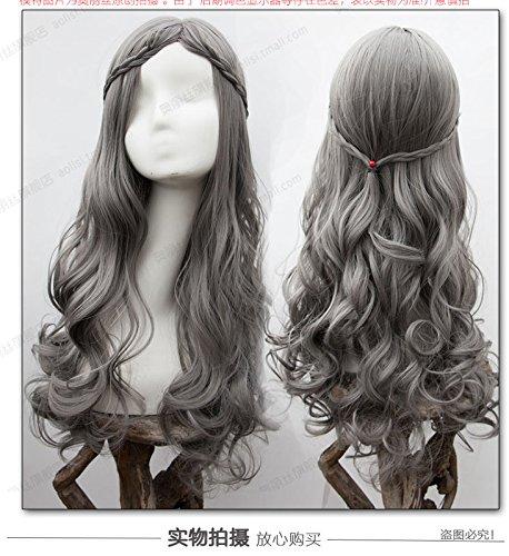 Long curly hair wig women girls female long hair dyed gradient half caps wig fluffy wig pear head big wave