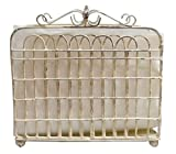 Shabby Chic Garden Gate Metal Lunch Napkin Holder (Cream)