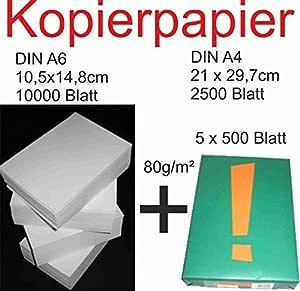 Papel 10000 hojas A6 + 2500 BL A4: Amazon.es: Oficina y papelería