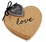 Heart Cork Coasters