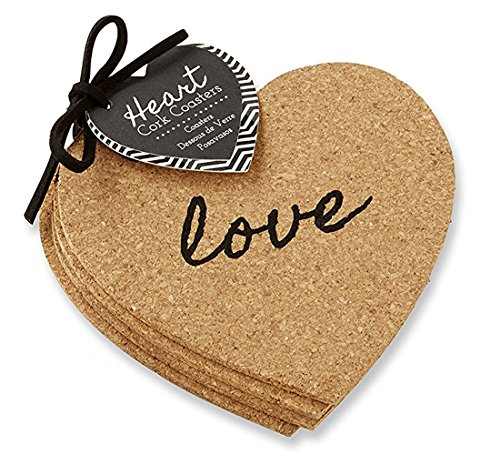 Heart Cork Coasters by Kate Aspen (Image #2)