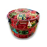 Bohemian Patch Work Pouf Ottoman,traditional Vintage Indian Pouf Floor Stool/foot Stool, Christmas Decorative Chiar Ottoman Cover,100% Cotton Art Decor Cushion Cover Pouf