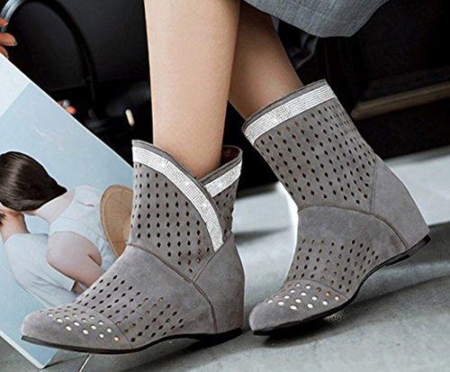 Femme Strass Talon Boots Low Chic Compens Aisun RxqwB6vdv