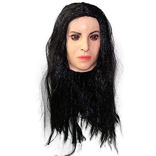 Realistic Female Latex Mask Human Overhead Mask Party Cosplay Sexy Costume Woman Face Crossdressing -