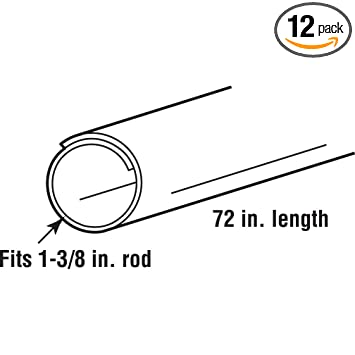 Delightful Prime Line Products MP7163 Closet Rod Covers, 72 In. Lengths, Plastic  Construction